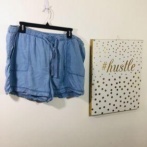 Stylus Chambray denim cotton shorts